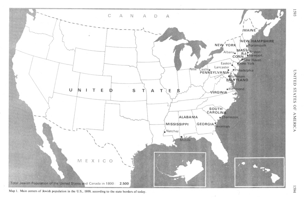 Jews In The USA Until - Map of jewish population in us