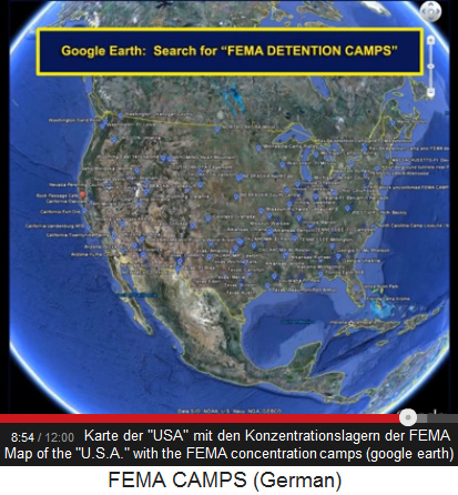 The Map Of U S A Of Google Earth With The Concentration Camps