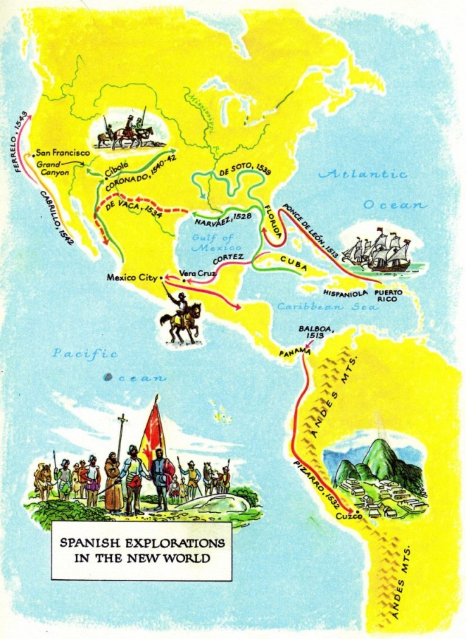 Map Of Spain 1492.America 1492 1543 With Spanish Christian Occupation Slavery