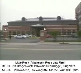 """Die Anwaltskanzlei von Killary Hillary Clinton """"Rose Law Firm"""" führt die """"Revisionen"""" bei """"befreundeten Firmen"""" durch etc."""