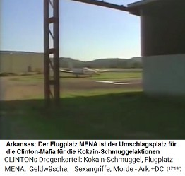Kleinflugzeuge auf dem Flugplatz MENA dienen dem Kokainschmuggel der Clinton-Mafia