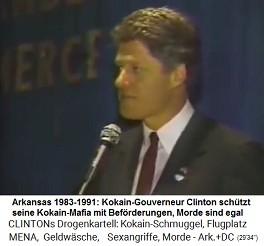 Der kriminelle Kokain-Gouverneur Bill Clinton schützt seine Kokain-Mafia, Morde sind egal (sonst würde er selbst ermordet)