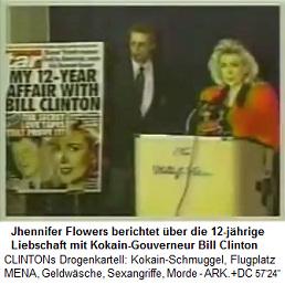 Jhennifer Flowers berichtet über ihre 12-jährige Liebschaft mit dem Kokain-Gouverneur Bill Clinton