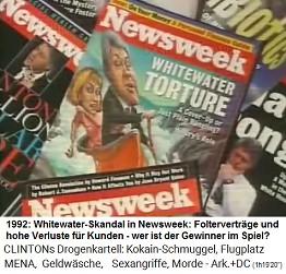 Titelseite von Newsweek mit dem Whitewater-Skandal 1992