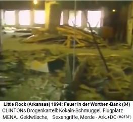 Little Rock (Arkansas): In der Worthen Bank soll ein Feuer mit Aktenvernichtung stattgefunden haben, aber der Boden, die Säulen und die Wände sind alle weiss (!)