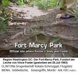 Die Leiche von Vince Foster wurde am 20. Juli 1993 im Fort-Marcy-Park nördlich von Washington DC gefunden
