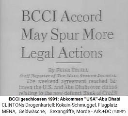 """BCCI 1991 geschlossen, den """"USA"""" gelingt ein Abkommen mit Abu Dhabi"""