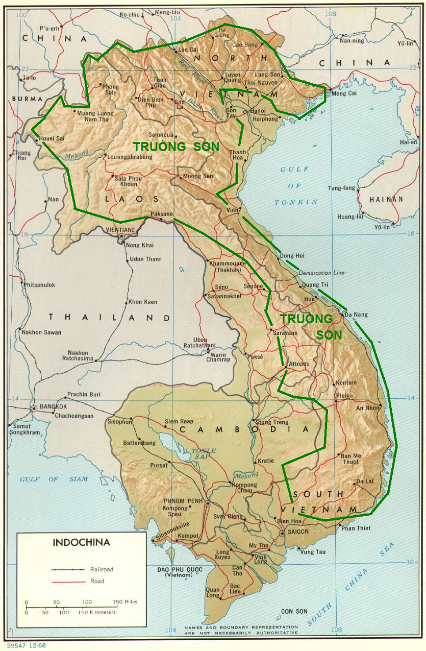 Vietnam Ho Chi Minh Trail Geophysical Structure - Rivers of vietnam map