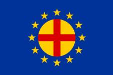 Die Fahne der paneuropäischen Bewegung von 1923
