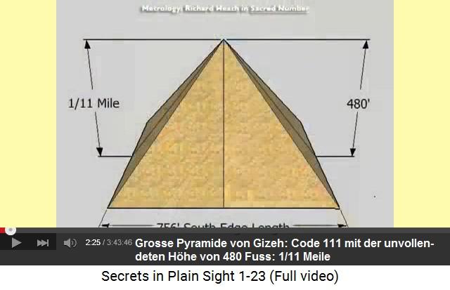 Die Grosse Pyramide Von Gizeh Enthält Den Code 111 (1/11 Meile),