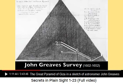 Sketch of John Greaves of the Great Pyramid                       of Giza