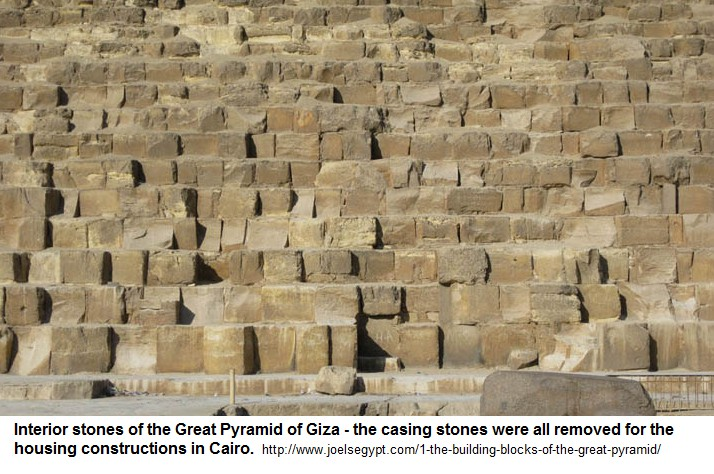 Interior stones of the Great Pyramid