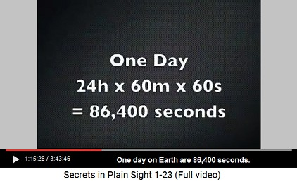 One day on Earth is 86,400 seconds