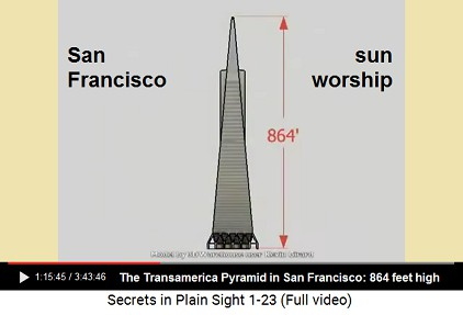 San Francisco: Transamerica Pyramid is a                         sun worship with a height of 864 feet
