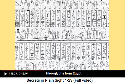 Hieroglyphs from Egypt