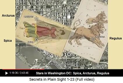Stars in Washington DC: Spica, Arcturus,                       Regulus