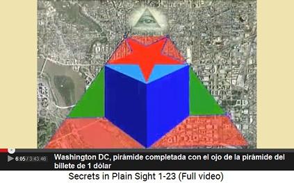 Washington DC, la pirámide completada con                         un piramidión con ojo como está en el billete de                         1-dólar