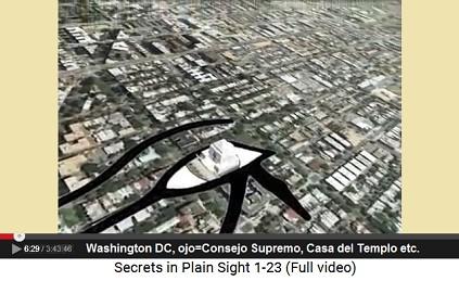 Poniendo el ojo de Horus ese ojo está                         precisamente el la Casa del Templo, también                         llamada Consejo Supremo o Consejo Principal del                         Mundo (Mother Council of the World) etc.
