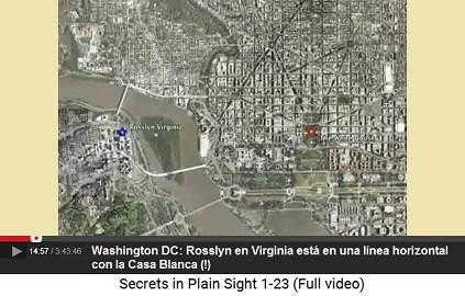 Rosslyn en Virginia están en una línea                         horizontal con la Casa Blanca (!)