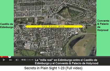 """La """"milla real"""" entre el Castillo                         de Edimburgo y el convento de Holyrood"""