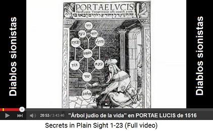 """El libro judío """"Portae Lucis"""" con                         el """"árbol de la vida"""" (La puerta a la                         luz"""") de 1516"""