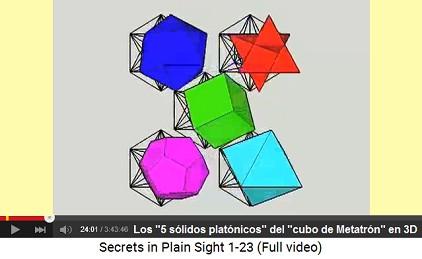Cubo de Metatrón: 5 sólidos platónicos en                         3D