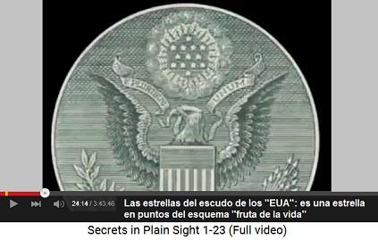 """Las estrellas del logotipo de los                           """"EUA"""" están en un orden como los                           puntos del esquema """"fruta de la                           vida"""""""