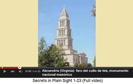 """Alexandria: el faro para el culto de Isis                         """"Monumento Nacional Masónico"""" es la                         elevación la más alta de Alexandria"""