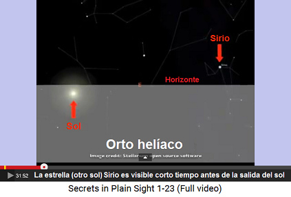 Sirio en la constelación del Perro Grande                         (Canis Mayor)
