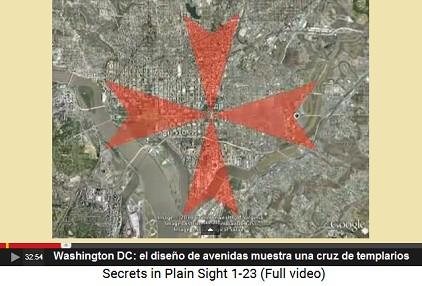 Washington DC, el diseño vial muestra una                         cruz de templarios