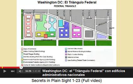 """Washington DC: el """"Triángulo Federal""""                     con edificios administrativas federales importantes"""