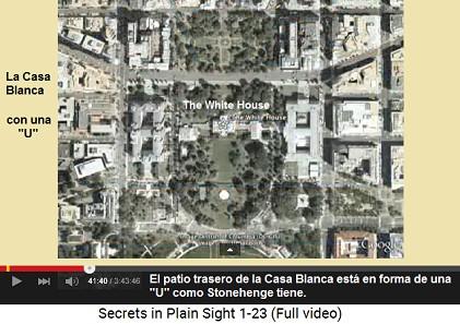 """El patio trasero de la Casa Blanca está en                     forma de una """"U"""" como Stonehenge tiene"""