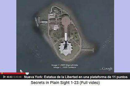Nueva York: Estatua de la Libertad en una                     plataforma de 11 puntos