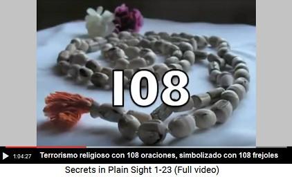 Terrorismo religioso con 108 oraciones -                     collares con 108 judías son el símbolo etc.