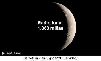 El radio lunar es 1.080 millas reales