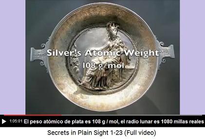 Plata tiene un peso atómico de 108 gr por mol,                     al mismo tiempo el radio lunar es 1.080 millas                     reales - solo una coincidencia